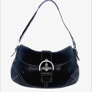 Coach Black Soho All Leather Shoulder Bag